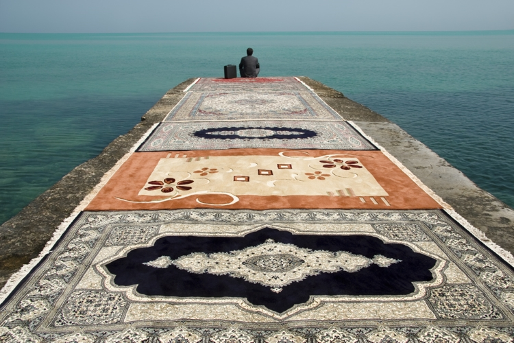 Jalal Sepehr, Water and Persian Rugs, 2004
