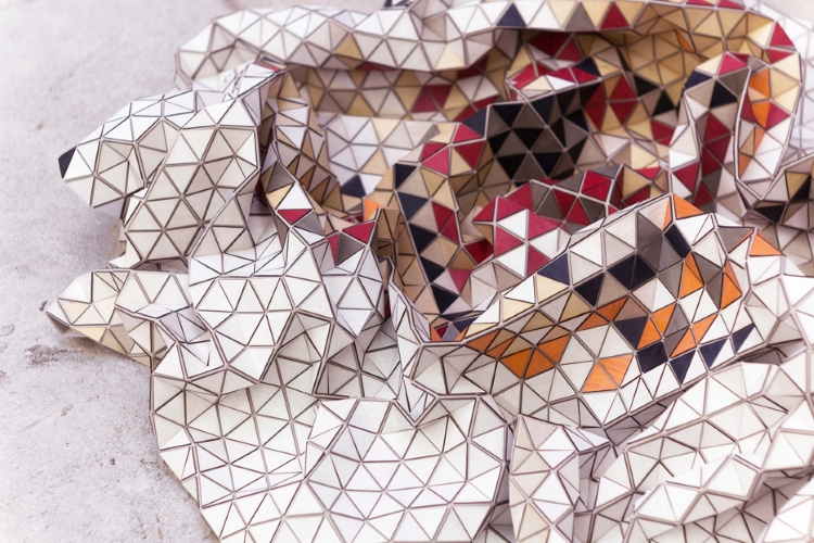 Elisa Strozyk, Colored Wooden Rug, Limited Rug, tappeto di legno